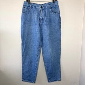 GITANO Vintage High Waisted Tapered Blue Jeans